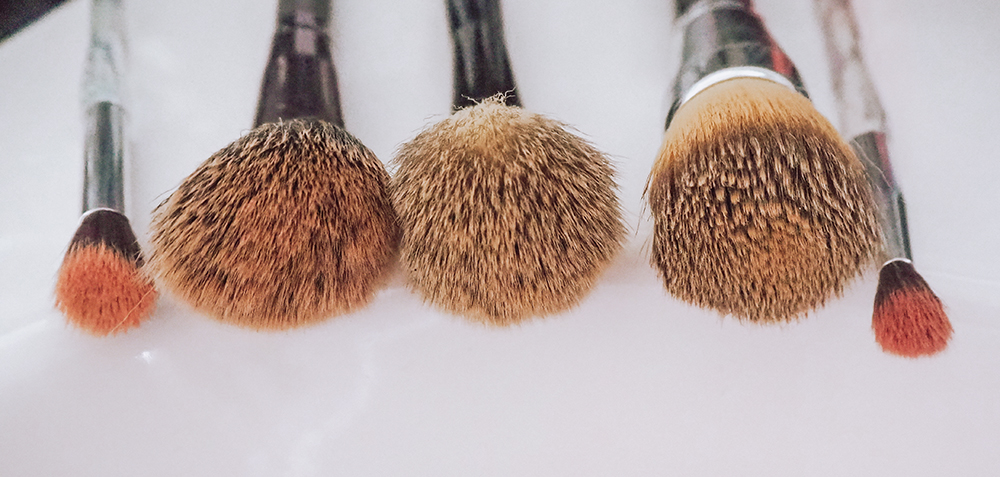 Dirty makeup brushes image