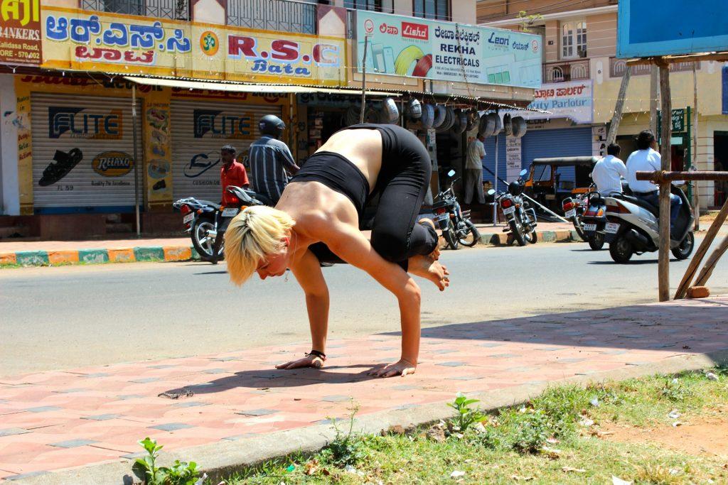 Crow pose image