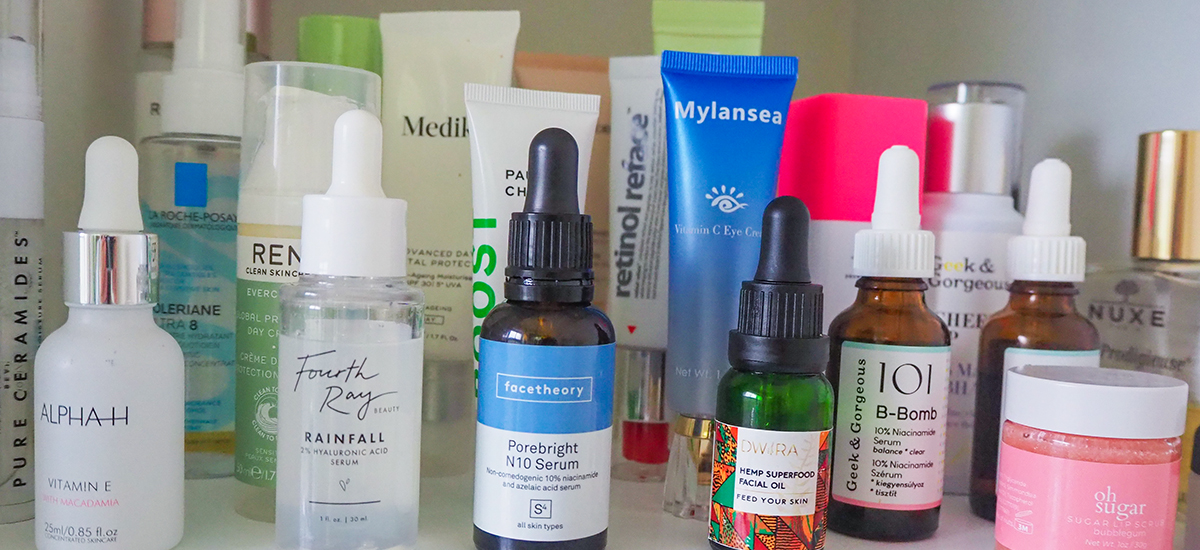 Skincare shelfie image