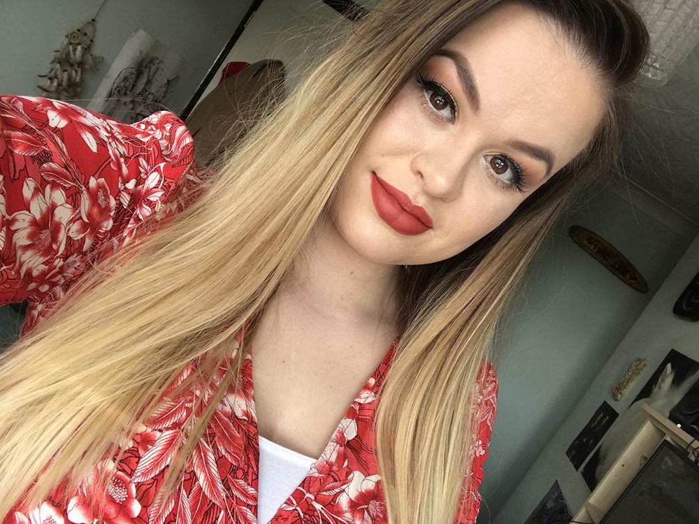Me wearing the Mac Chili lipstick image