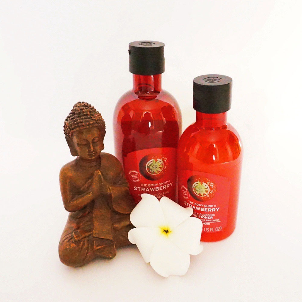 The Body Shop strawberry hair care range image