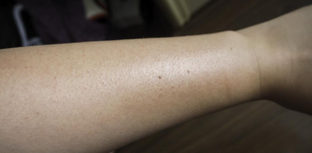 DIY shimmer body oil result image