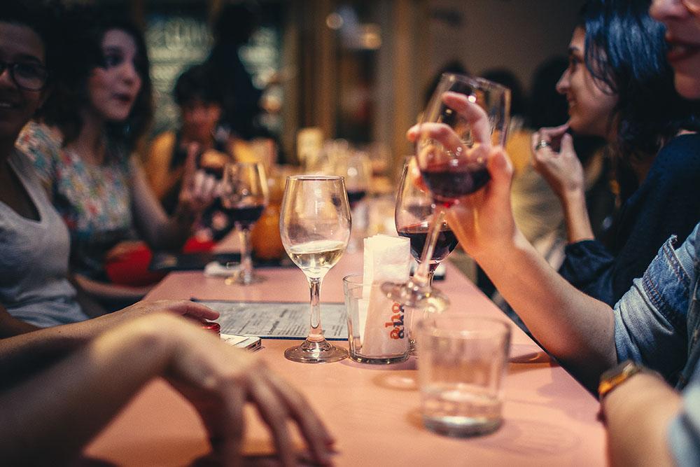 friends at restaurant image