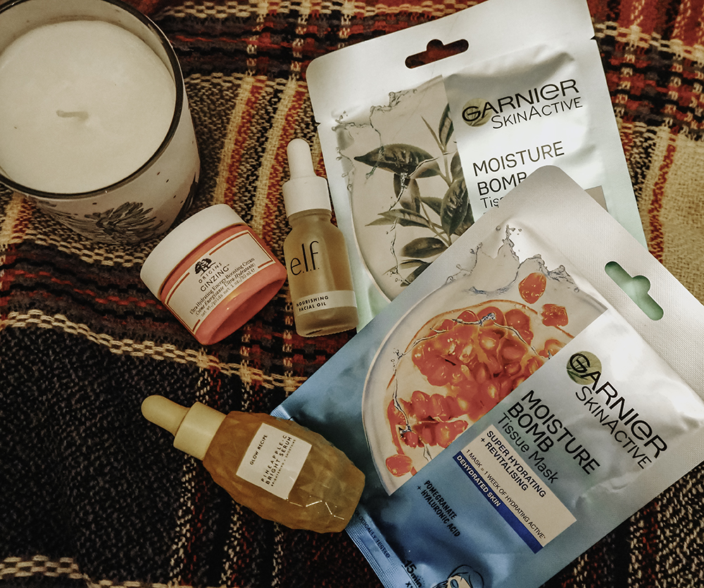 cold weather skincare products image