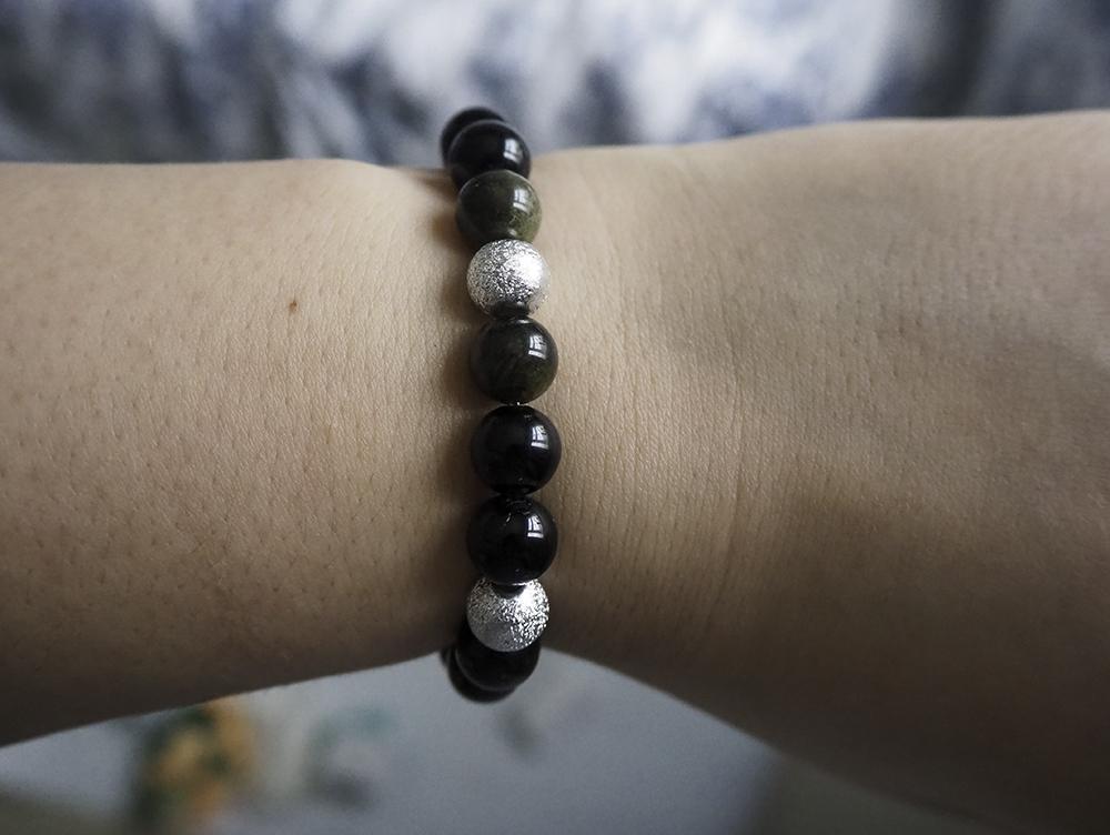 Black Tourmaline Crystal Bracelet image