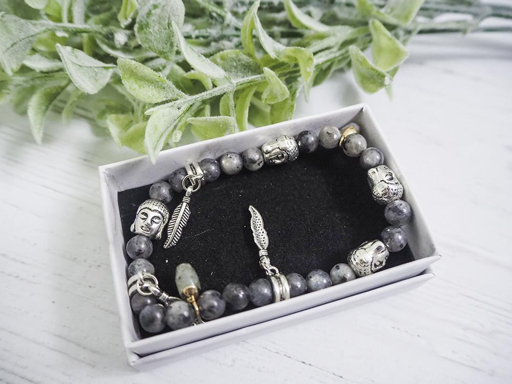 Labradorite Crystal Charm Bracelet image