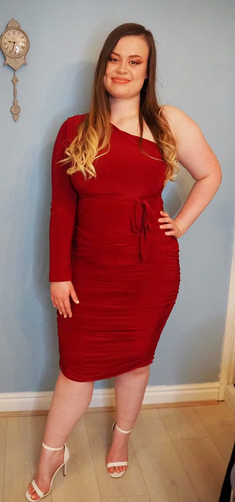 Femme Luxe red midi dress image