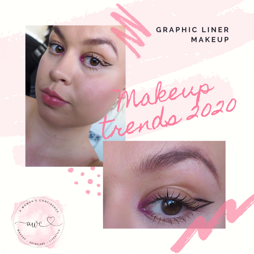 Graphic eyeliner makeup look image