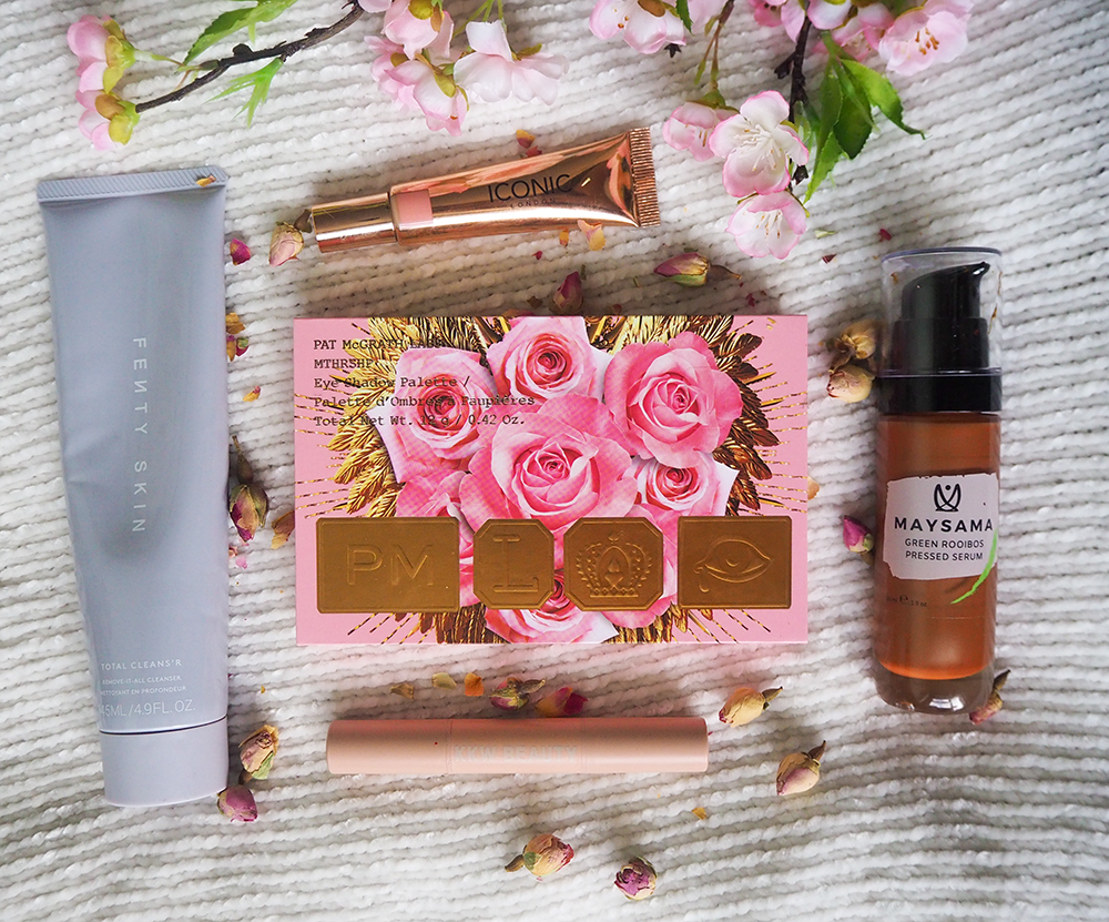 Beauty products flatlay