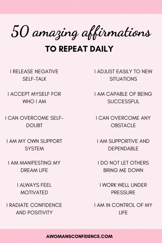 50 amazing affirmations to repeat daily image