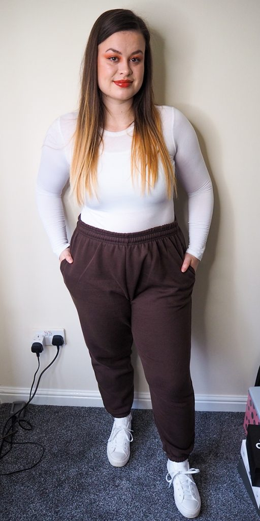Femme Luxe Chocolate Cuffed Joggers - Lizzie image