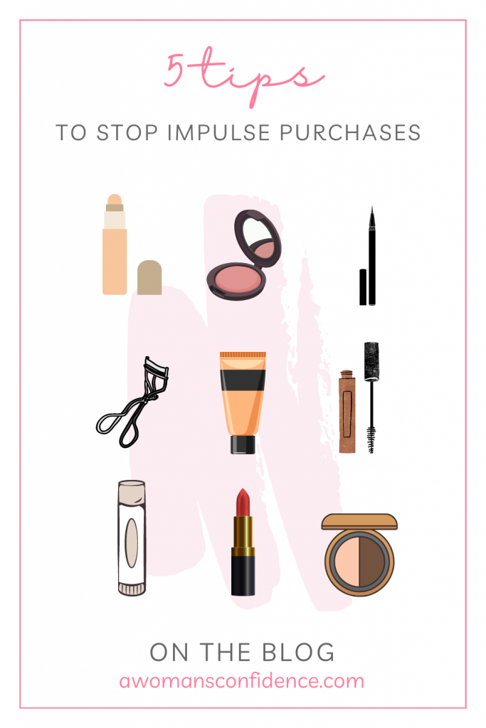 5 tips for stopping impulsive makeup purchases graphic