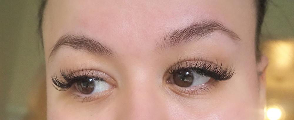 Hybrid eyelash extensions image