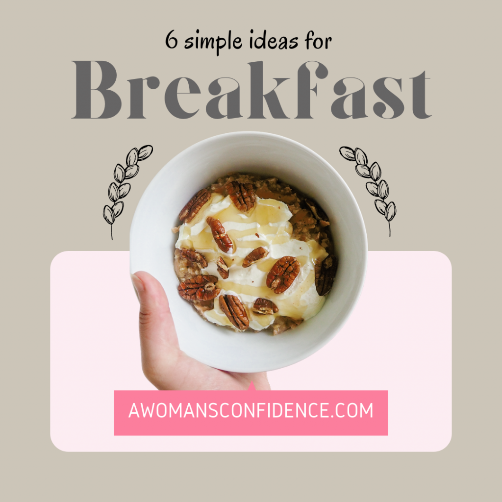 Quick and healthy breakfast ideas graphic