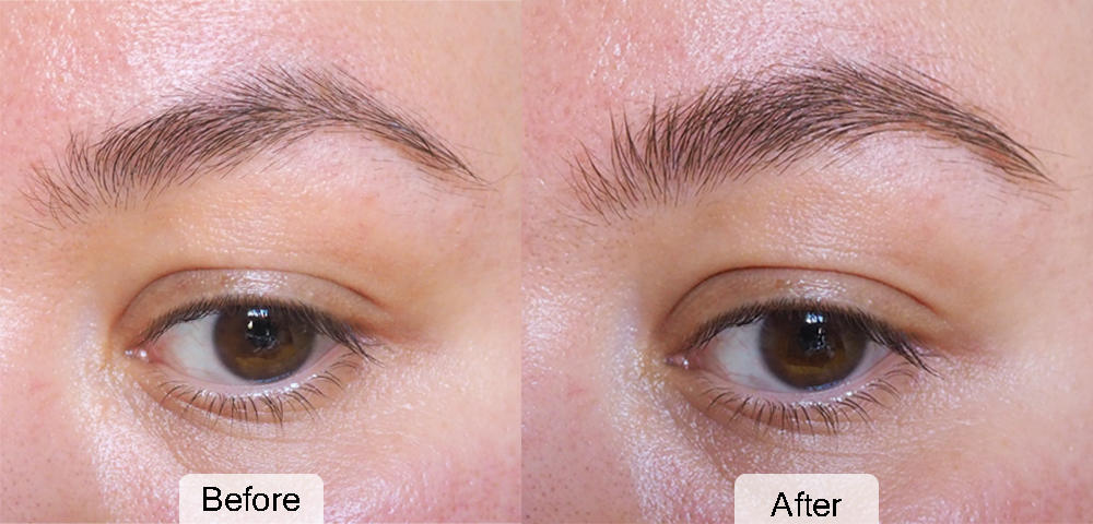 Glossier Boy Brow before and after photo