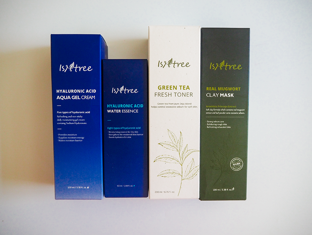 ISNTREE skincare products image