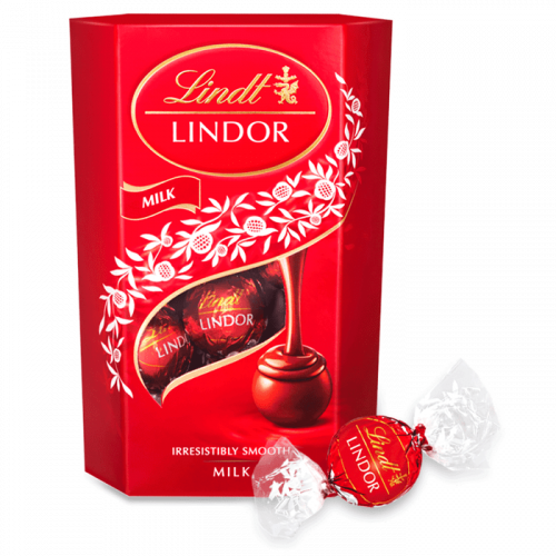 Lindt LINDOR Milk Chocolate Truffles image